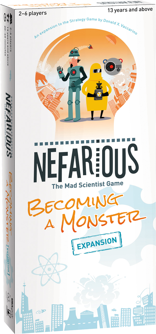 Nefarious: The Mad Scientist Game & Becoming a Monster Expansion